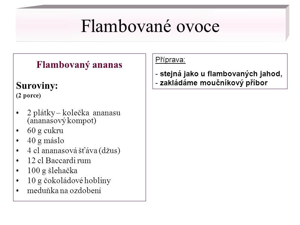 Flambované ovoce Flambovaný ananas Suroviny: