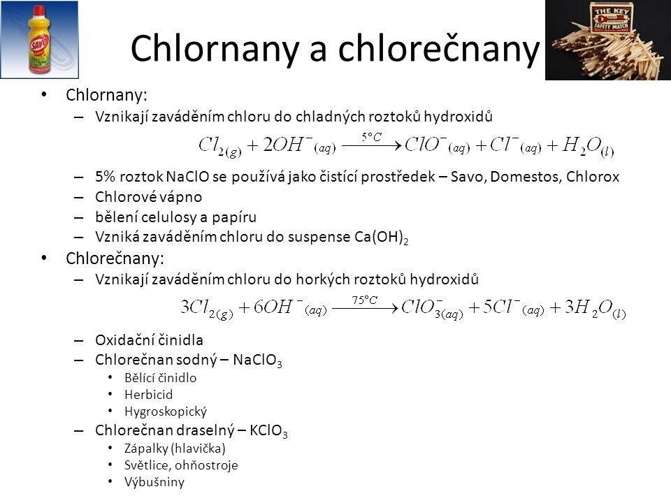 Chlornany a chlorečnany