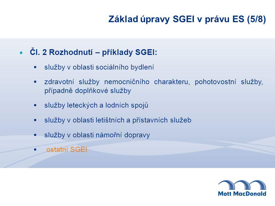 Základ úpravy SGEI v právu ES (5/8)
