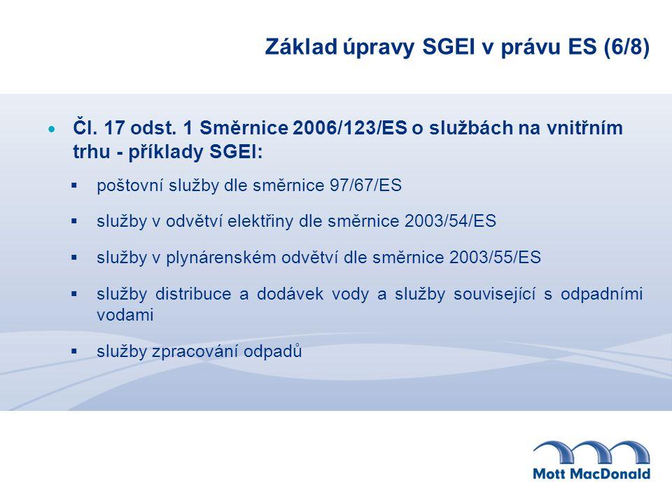 Základ úpravy SGEI v právu ES (6/8)
