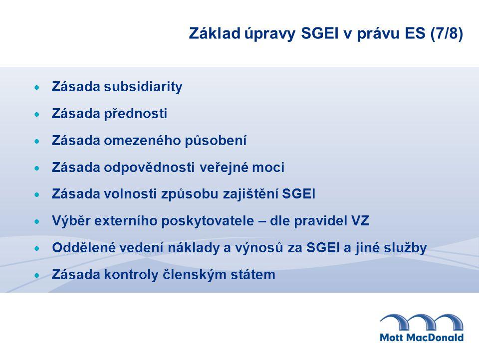 Základ úpravy SGEI v právu ES (7/8)