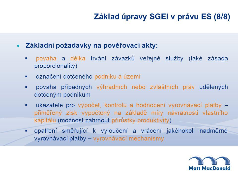 Základ úpravy SGEI v právu ES (8/8)