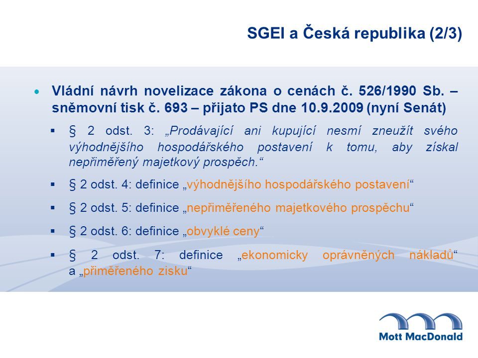 SGEI a Česká republika (2/3)