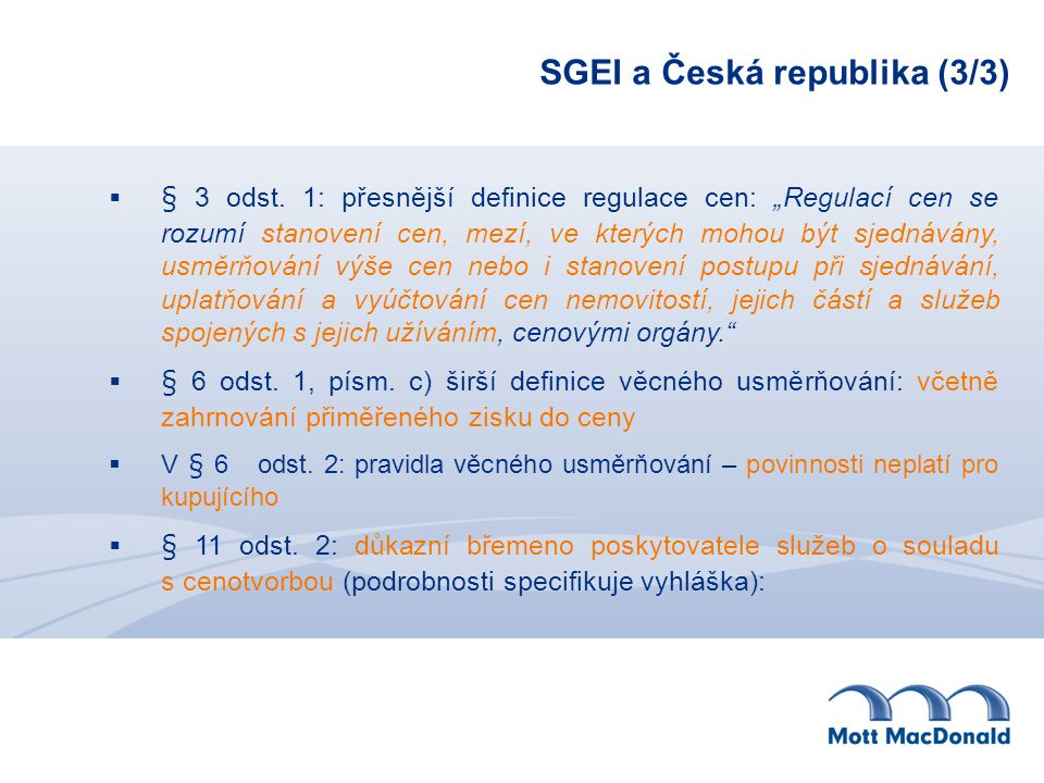 SGEI a Česká republika (3/3)