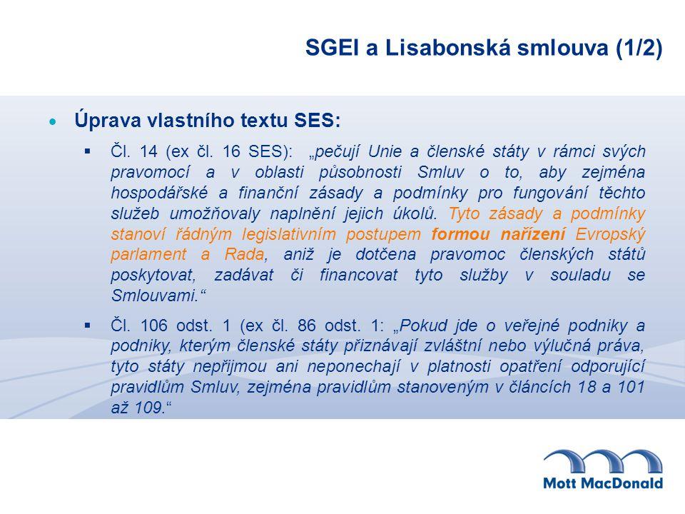 SGEI a Lisabonská smlouva (1/2)