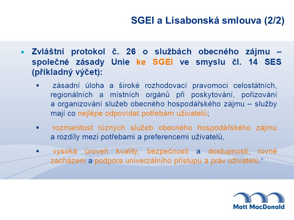 SGEI a Lisabonská smlouva (2/2)