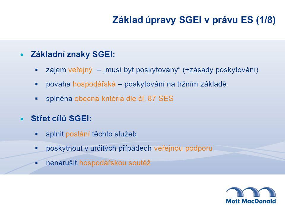 Základ úpravy SGEI v právu ES (1/8)