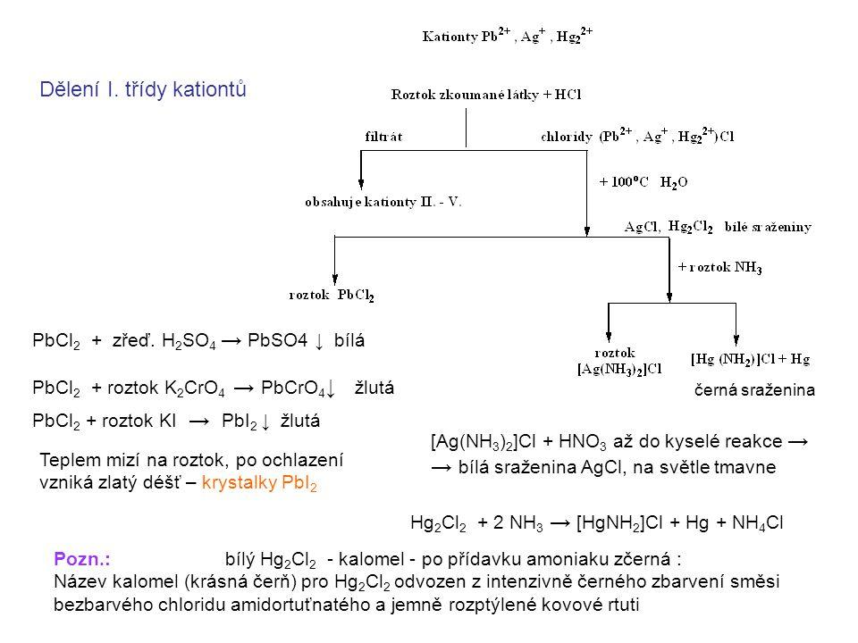 Dělení I. třídy kationtů