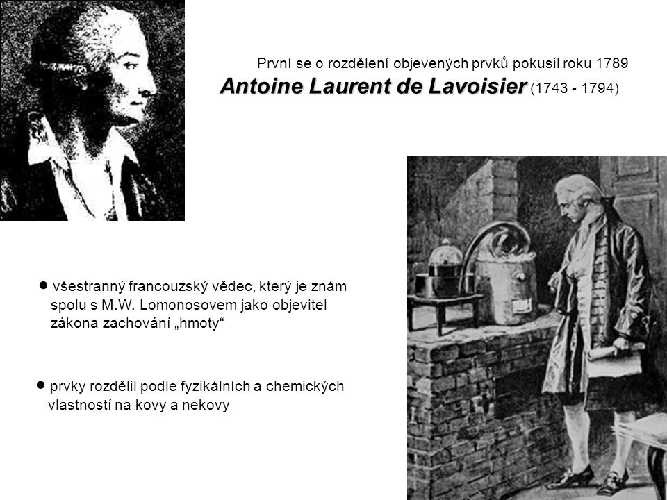 Antoine Laurent de Lavoisier (1743 - 1794)