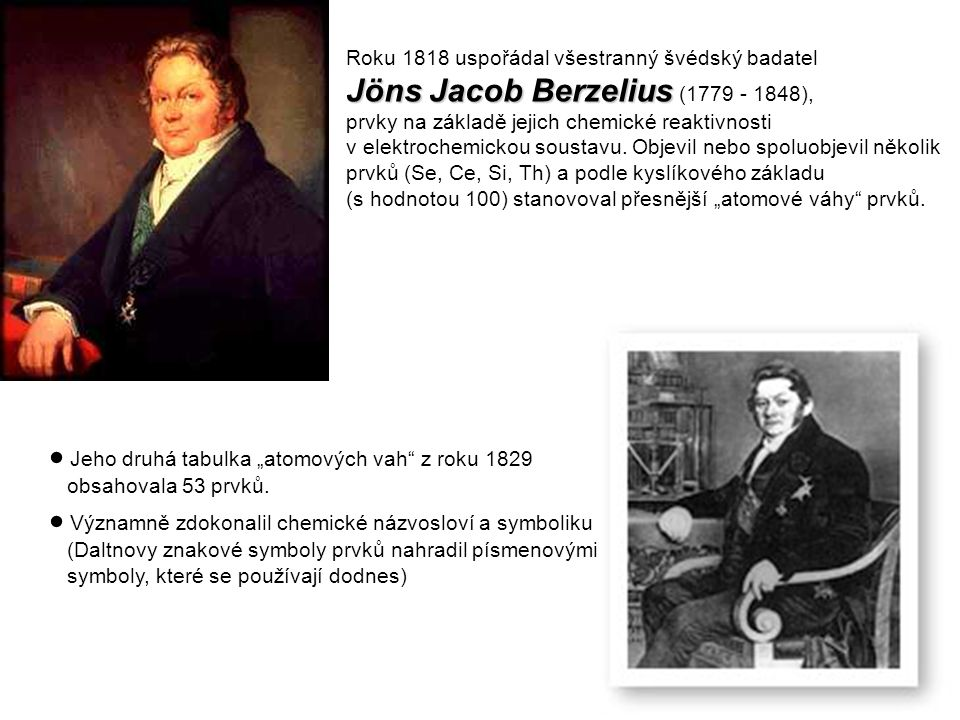 Jöns Jacob Berzelius (1779 - 1848),