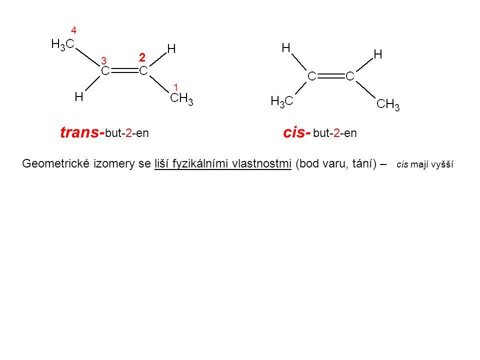 trans- cis- 2 but-2-en but-2-en