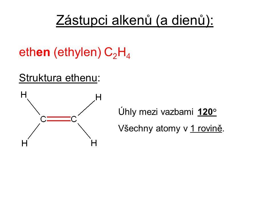 Zástupci alkenů (a dienů):