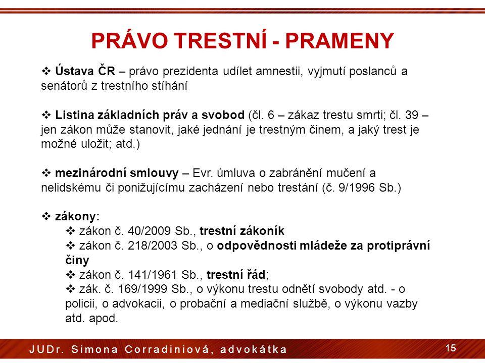PRÁVO TRESTNÍ - PRAMENY