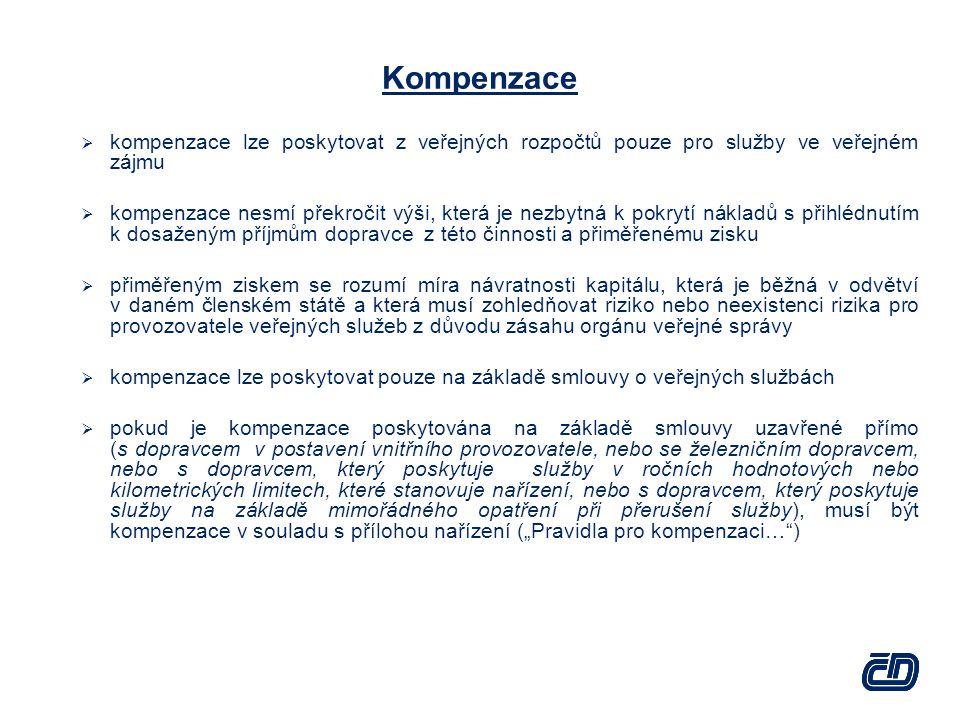 Kompenzace kompenzace lze poskytovat z veřejných rozpočtů pouze pro služby ve veřejném zájmu.