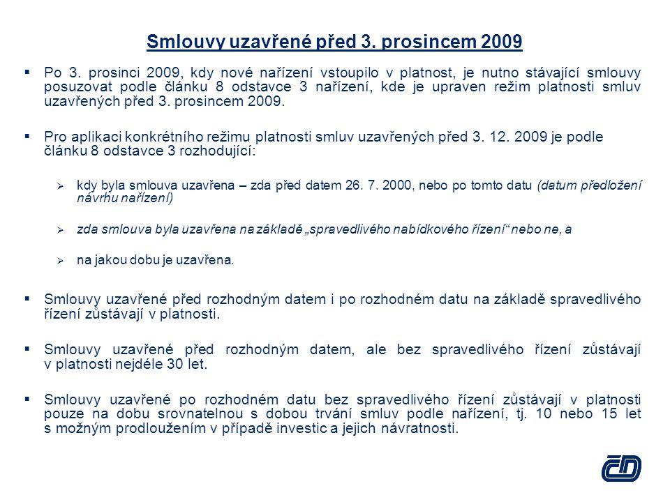 Smlouvy uzavřené před 3. prosincem 2009