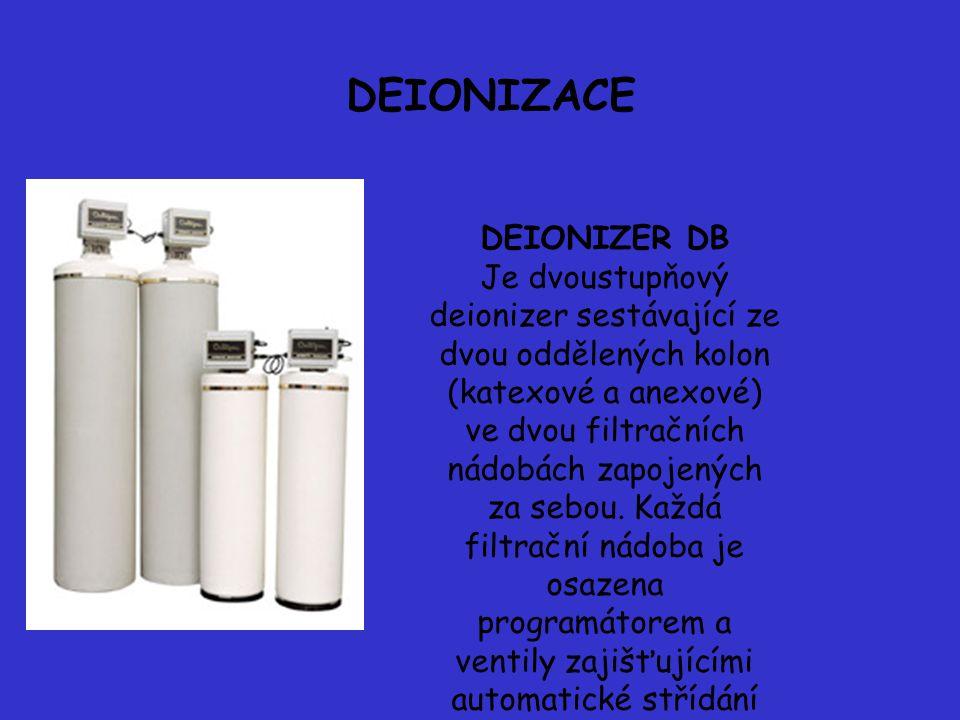 DEIONIZACE DEIONIZER DB