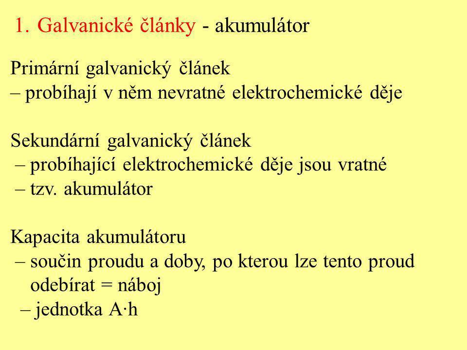 Galvanické články - akumulátor
