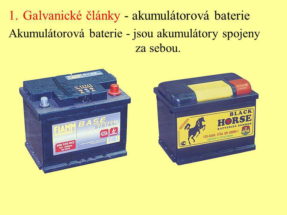 Galvanické články - akumulátorová baterie