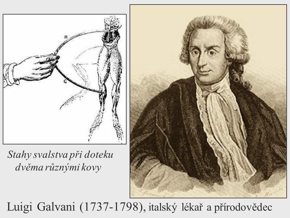 Luigi Galvani (1737-1798), italský lékař a přírodovědec