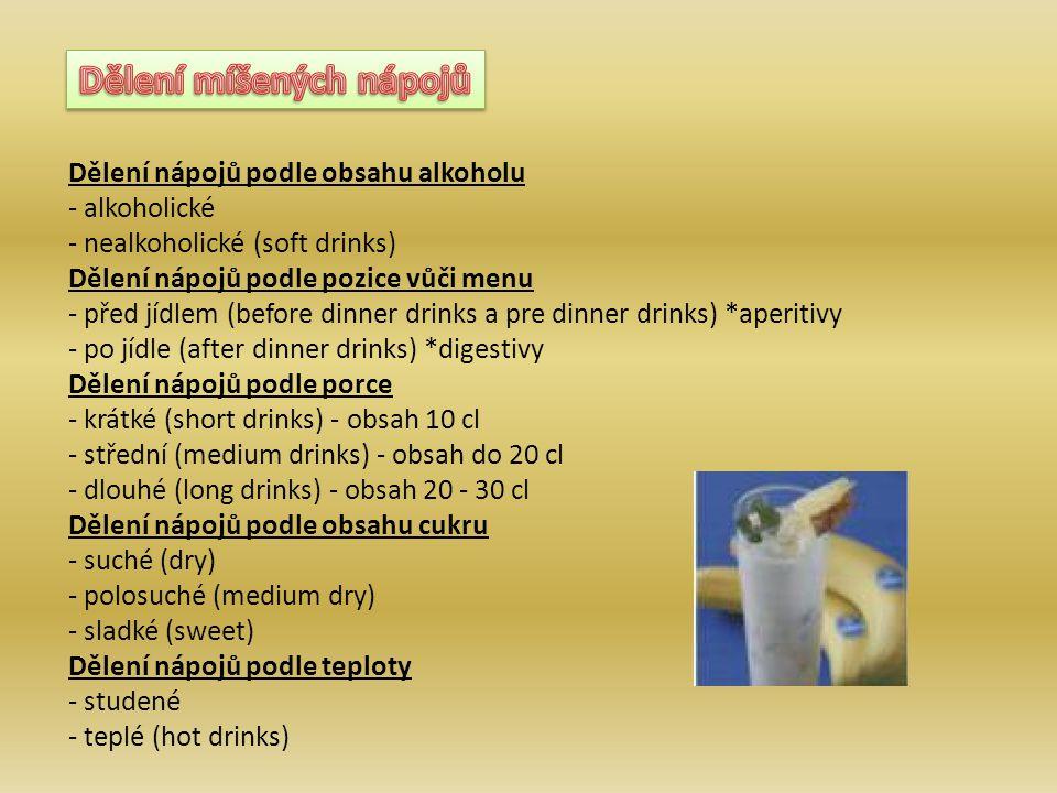 Dělení míšených nápojů