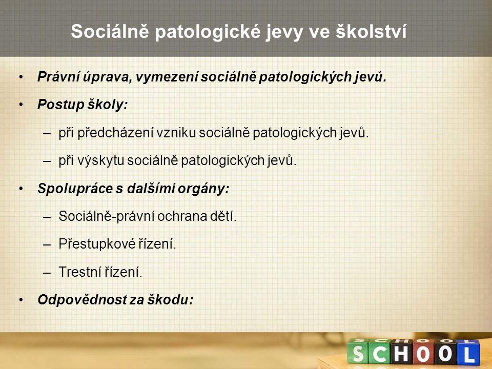 Sociálně patologické jevy ve školství