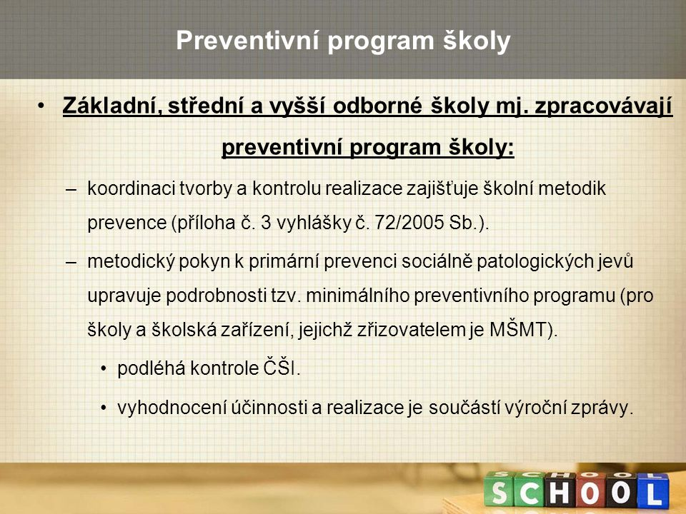 Preventivní program školy