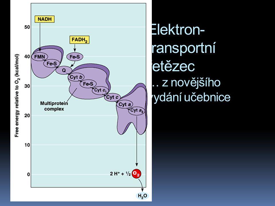 Elektron-transportní řetězec … z novějšího vydání učebnice
