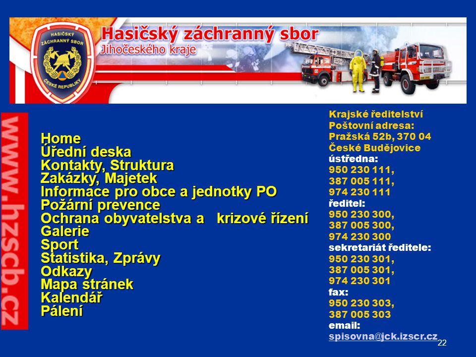 Informace pro obce a jednotky PO Požární prevence