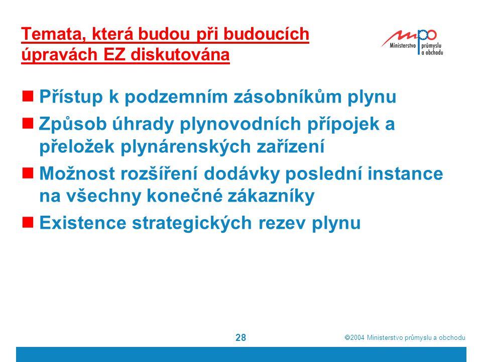 Temata, která budou při budoucích úpravách EZ diskutována