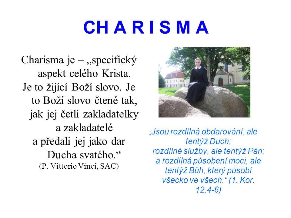 """CH A R I S M A Charisma je – """"specifický aspekt celého Krista."""