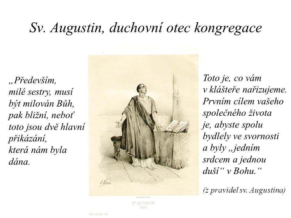Sv. Augustin, duchovní otec kongregace