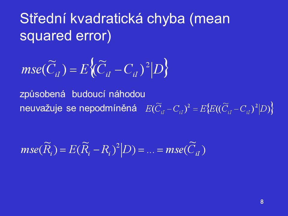 Střední kvadratická chyba (mean squared error)