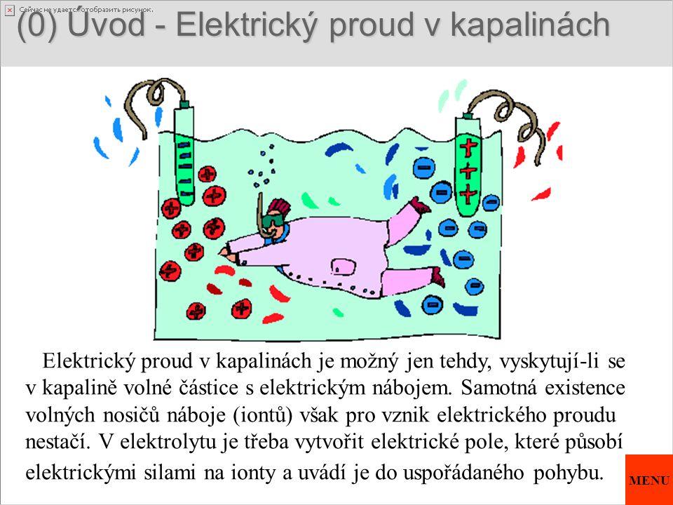(0) Úvod - Elektrický proud v kapalinách