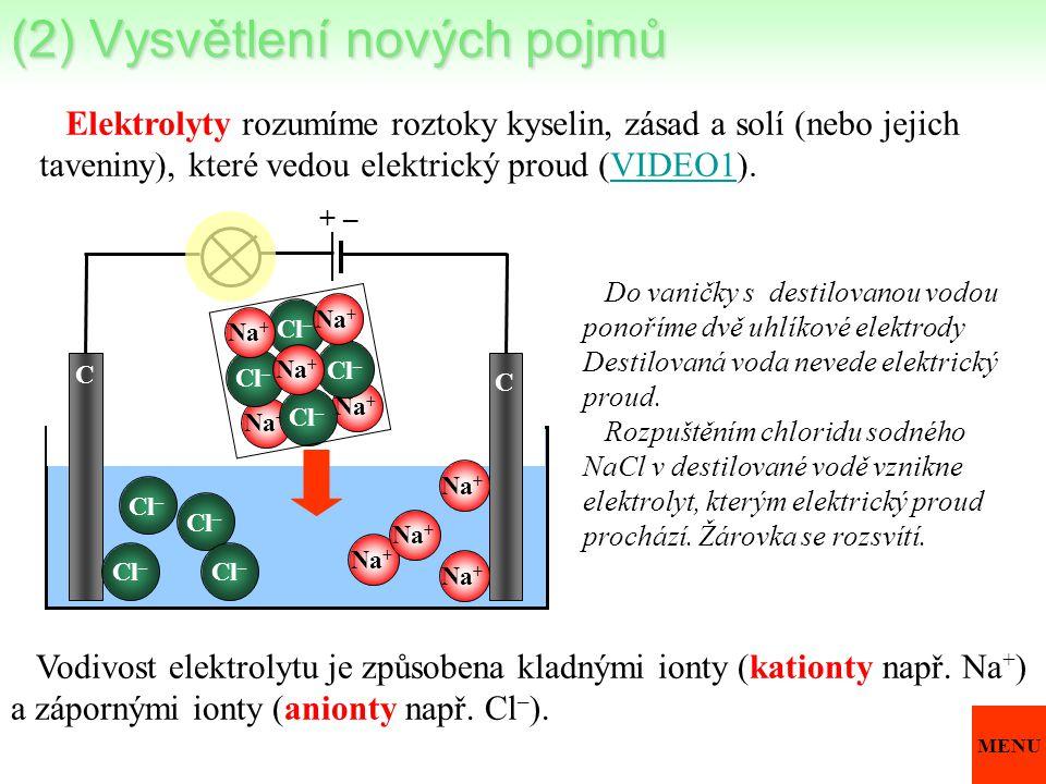 (2) Vysvětlení nových pojmů