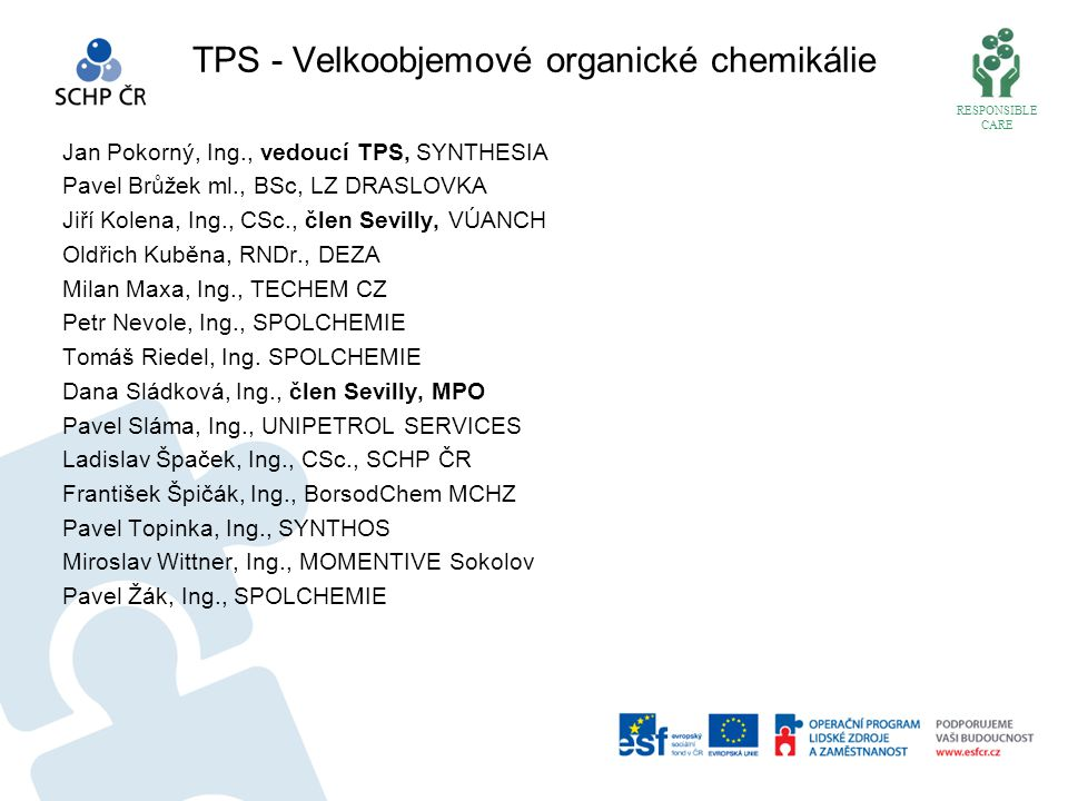 TPS - Velkoobjemové organické chemikálie