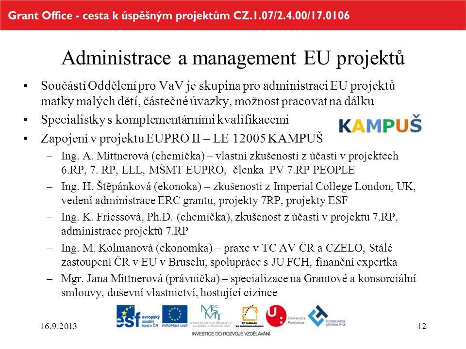 Administrace a management EU projektů