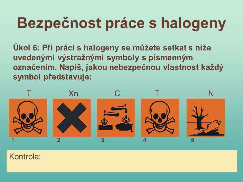 Bezpečnost práce s halogeny