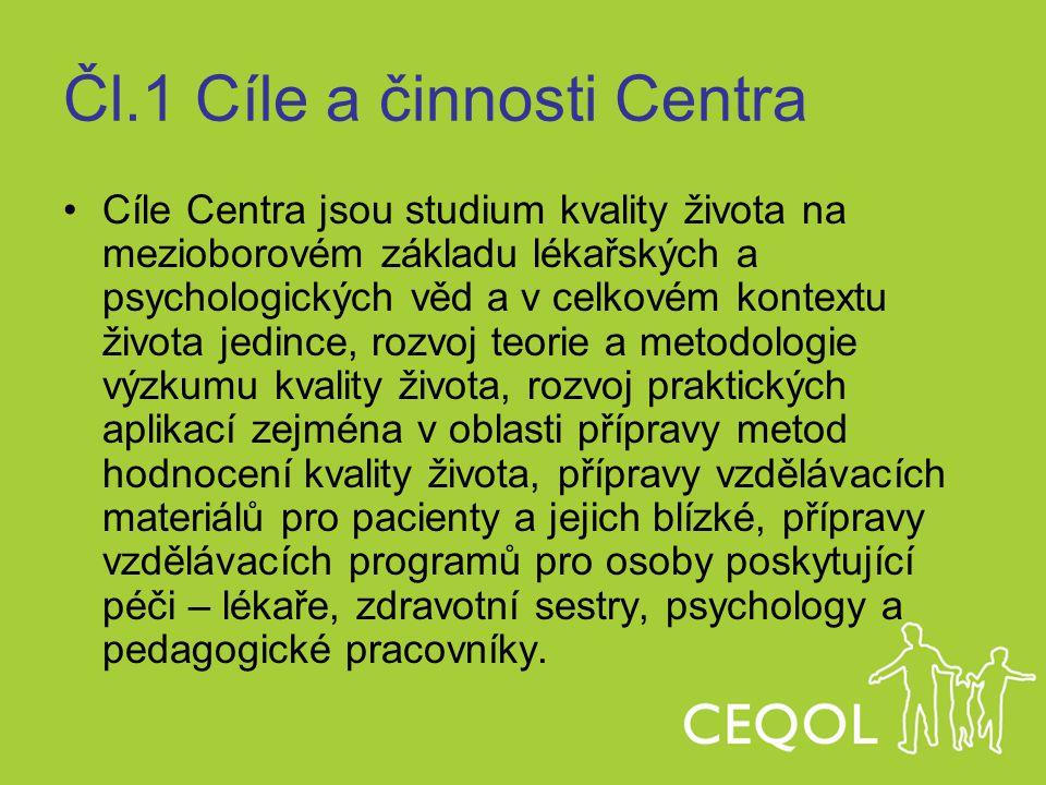Čl.1 Cíle a činnosti Centra