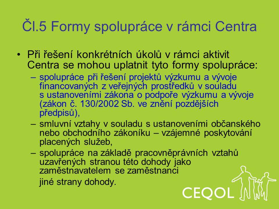 Čl.5 Formy spolupráce v rámci Centra