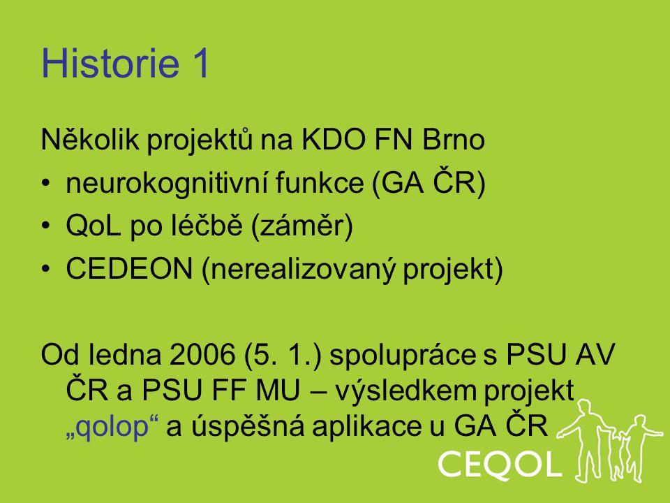 Historie 1 Několik projektů na KDO FN Brno