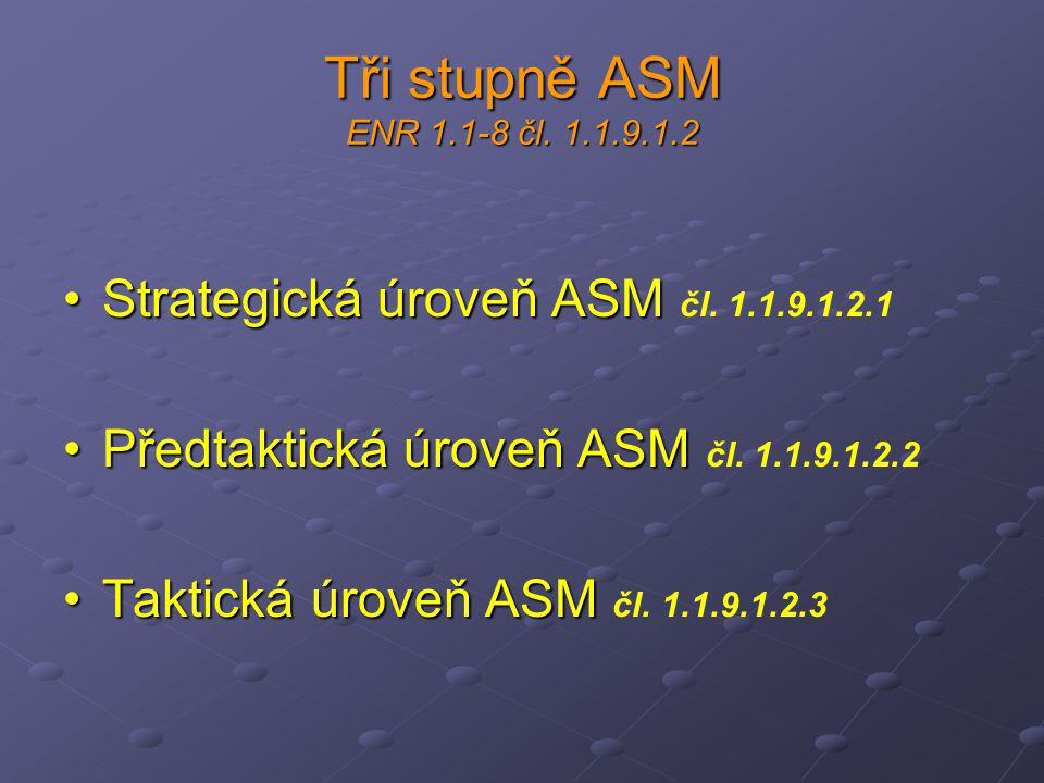 Tři stupně ASM ENR 1.1-8 čl. 1.1.9.1.2 Strategická úroveň ASM čl. 1.1.9.1.2.1. Předtaktická úroveň ASM čl. 1.1.9.1.2.2.