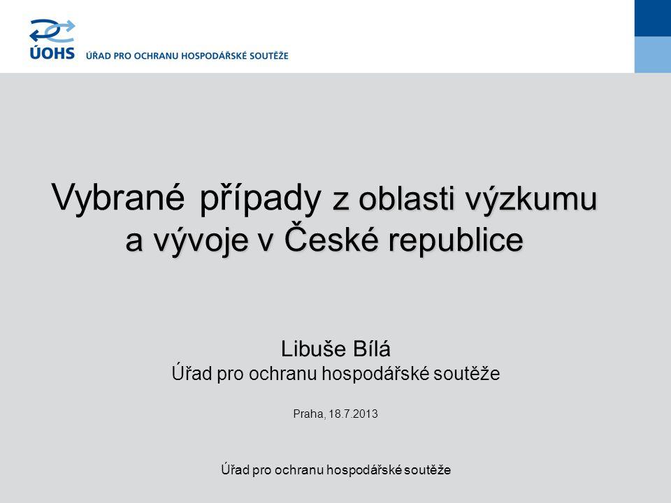 Vybrané případy z oblasti výzkumu a vývoje v České republice