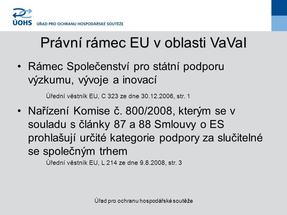 Právní rámec EU v oblasti VaVaI