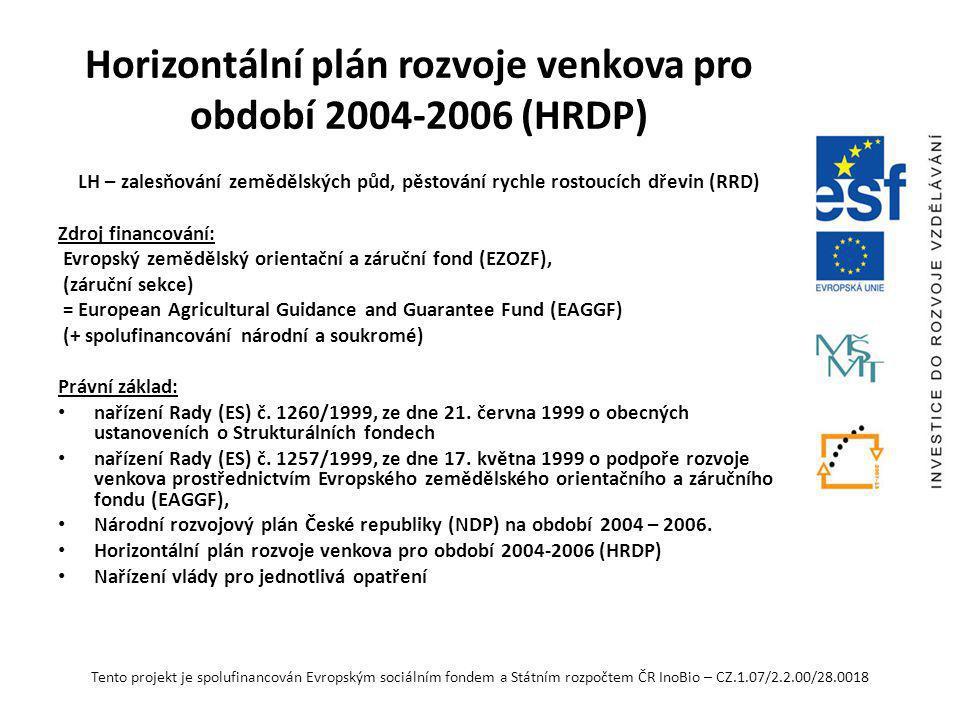 Horizontální plán rozvoje venkova pro období 2004-2006 (HRDP)