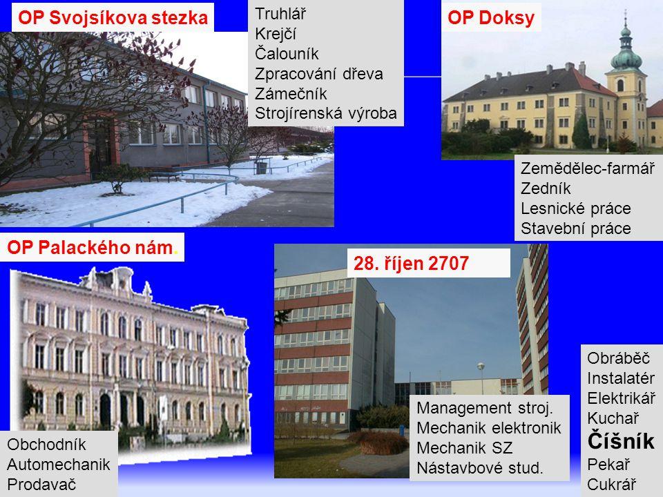 Číšník OP Svojsíkova stezka OP Doksy OP Palackého nám. 28. říjen 2707