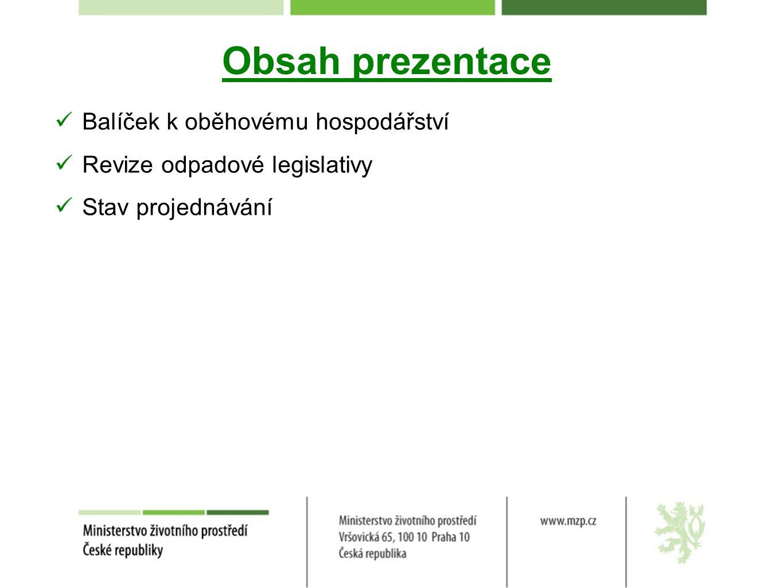 Obsah prezentace Balíček k oběhovému hospodářství
