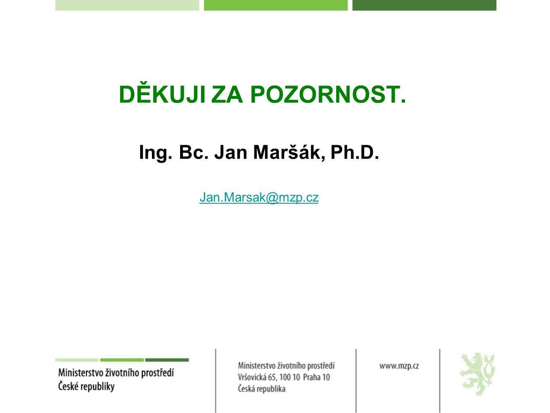 DĚKUJI ZA POZORNOST. Ing. Bc. Jan Maršák, Ph.D. Jan.Marsak@mzp.cz