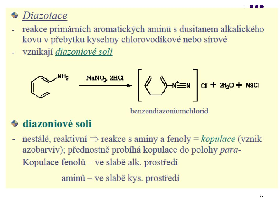 Reakce aminů