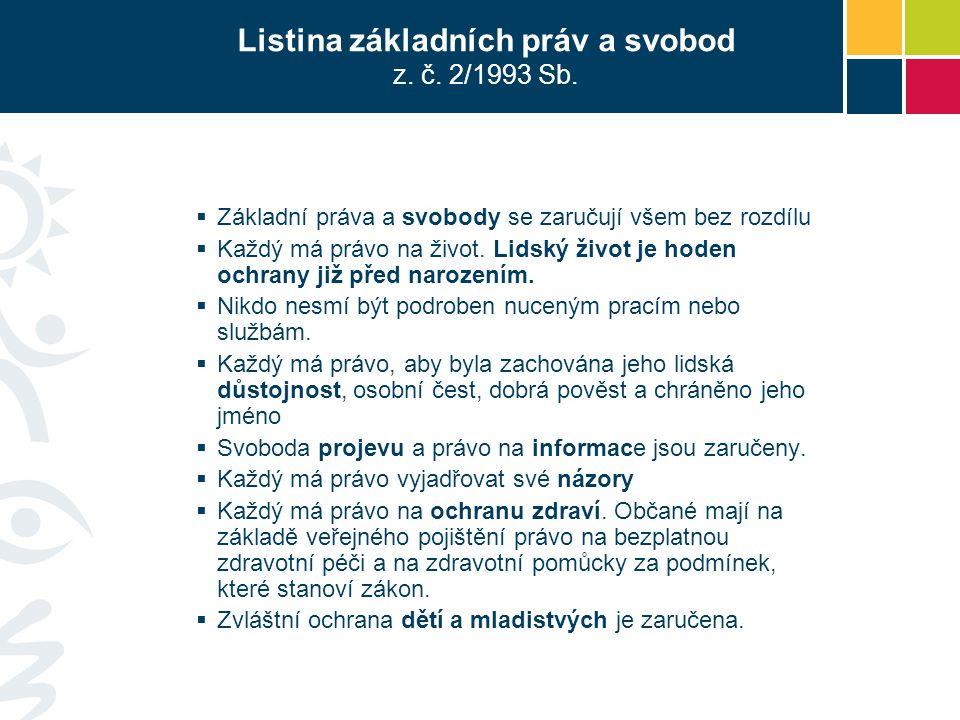 Listina základních práv a svobod z. č. 2/1993 Sb.