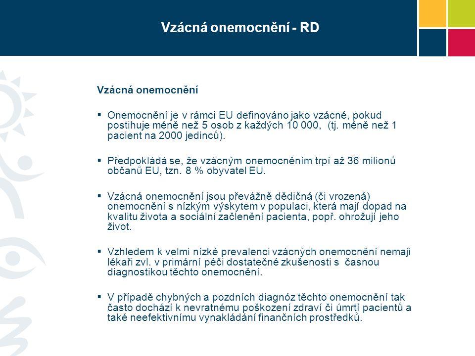 Vzácná onemocnění - RD Vzácná onemocnění